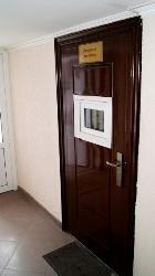 Вход в помещение консьержа. Благодаря требовательности председателя ТСЖ Н.В. Филимонова,             во всех помещениях чистота и порядок